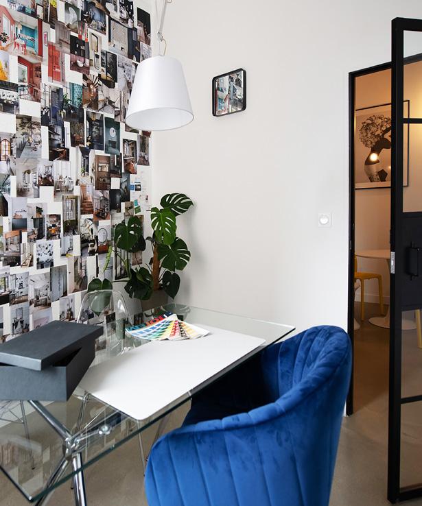 Le bureau d'un architecte d'intérieur à Marseille